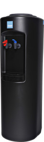Clover B7A Hot and Cold Bottled Water Cooler Black – Side View