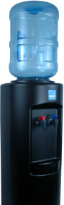 Clover B7A Hot and Cold Bottled Water Cooler Black – Top View