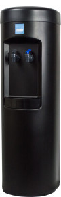 Clover B7B Room Temp and Cold Bottleless Water Dispenser with Conversion Kit Black – Side View