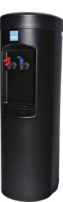 Clover D7A Hot and Cold Water Dispenser Black – Side View